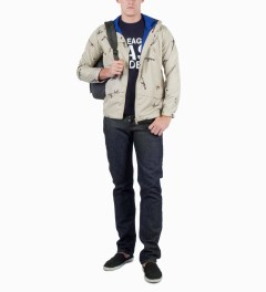 Mark McNairy for Heather Grey Wall Beige AK47 Hooded Jacket Model Picture