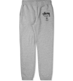 Stussy Heather Grey World Tour Sweatpants Picture