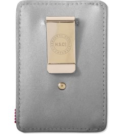 Herschel Supply Co. Silver/Red Poly Raven 3M Cardholder Model Picutre