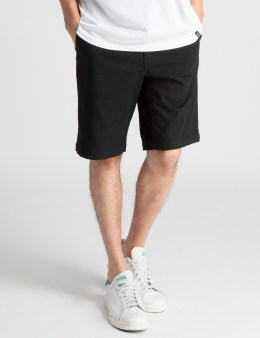 HUF Black Twill Walk Shorts Picture