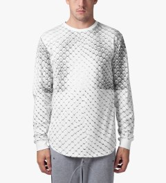 Stampd White Allover Snake Print L/S T-Shirt Model Picutre