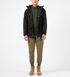 Penfield Olive Lumsden Collarless Overshirt Model Picture