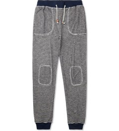 Band of Outsiders Blue Loop Stripe Sweatpants Picture