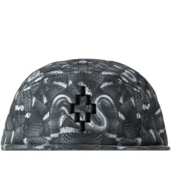 Marcelo Burlon Black Snake Print Allover New Era Camp Cap Picutre