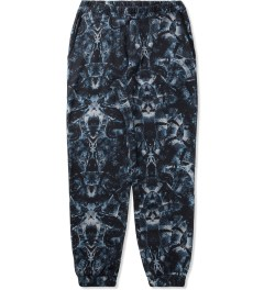 Marcelo Burlon Black/Blue Snake Print Allover Sweatpants Picutre