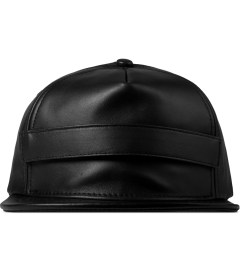 Stampd Black Velcro Lambskin Snapback Cap Picture
