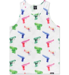 Primitive White Soaked Tank Top Picture