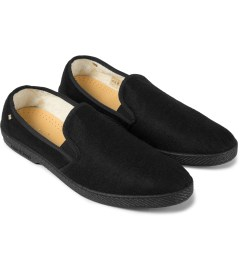 Rivieras Black Manoir Feutre Slip-On Shoes Model Picutre