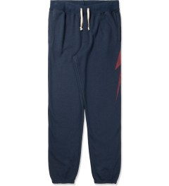 Lightning Bolt Insignia Blue Forever Triblend Fleece Pants Picutre