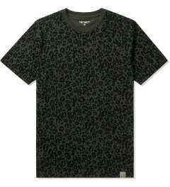 Carhartt WORK IN PROGRESS Olive/Black Panther Print Charly T-Shirt Picutre