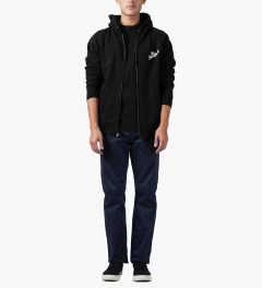 The Hundreds Black Forever Slant Zip Up Hoodie Model Picture