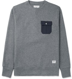 Penfield Grey Melange Coalmont Crewneck Sweater Picture