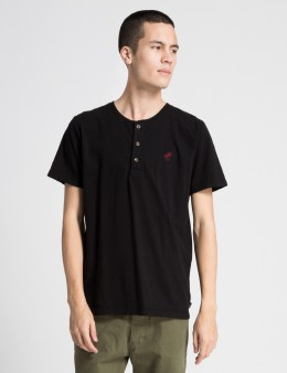 ONLY Black OK Henley T-Shirt Picture