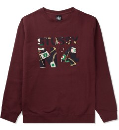 Stussy Dark Red Flags No.4 Sweater Picutre