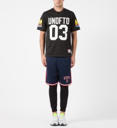 Undefeated Blue UND 3 Mesh Shorts Model Picture