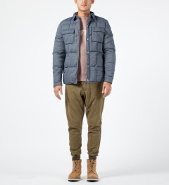 Penfield Blue Loring Down Insulated Shirt Model Picture