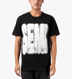 Henrik Vibskov Black Semi Print Smash T-Shirt Model Picture