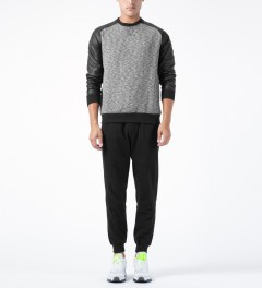 Shades of Grey by Micah Cohen Black/Coated Black Raglan Sleeve Sweater Model Picture