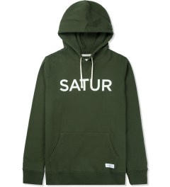 SATURDAYS Surf NYC Dark Fatigue Ditch Front and Back Hoodie Picture