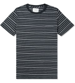 SATURDAYS Surf NYC Ash Heather Randall Pencil Stripe T-Shirt Picture