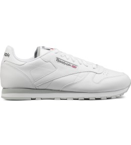 Reebok White CL Leather Low Top Sneakers Picture