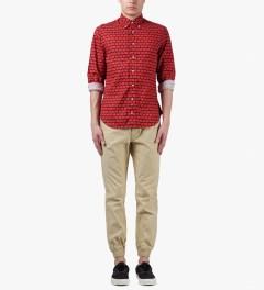 Staple Khaki Walton Cuff Pants Model Picutre