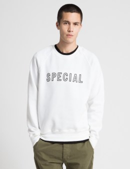 Special Delivery NYC White Logo Sweater Picture
