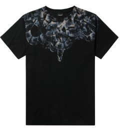Marcelo Burlon Black/Blue Snake Print T-Shirt Picture