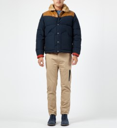 Penfield Navy Rockwool Down Insulated Jacket Model Picture