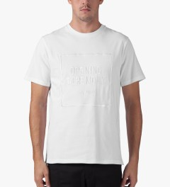 Opening Ceremony White Logo Embroidered T-Shirt Model Picture