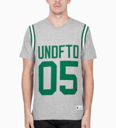 Undefeated Heather Grey Gridiron T-Shirt Model Picutre