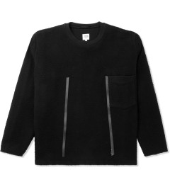 Opening Ceremony Black Julien Wool Large Front Zip Pullover Jacket Picutre