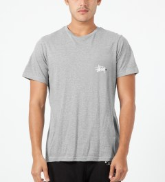 Stussy Heather Grey Basic Logo T-Shirt Model Picture