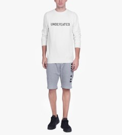 Undefeated White Basic Block Sweater Model Picutre