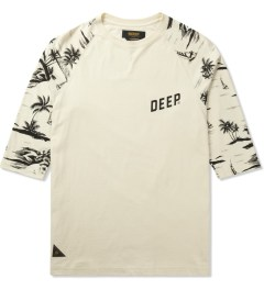 10.Deep Natural Black Sand ¾ Sleeve Baseball T-Shirt Picture