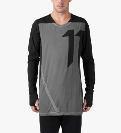 11 By Boris Bidjan Saberi Black LS-1 T-Shirt Model Picutre