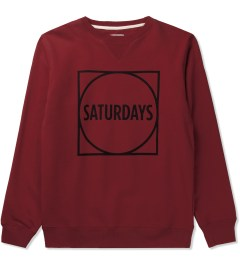 SATURDAYS Surf NYC True Red Bowery Circle Square Sweater Picutre