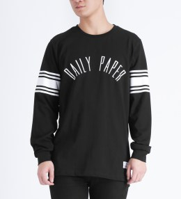 Daily Paper Black/White Script L/S T-Shirt Picture