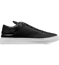 Filling Pieces Wired Black Woven Leather Mountain Cut Sneakers Picutre