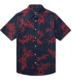 HUF Navy/Red Bamboo S/S Woven Shirt Picutre