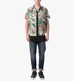 HUF Tan Waikiki S/S Woven Shirt Model Picutre