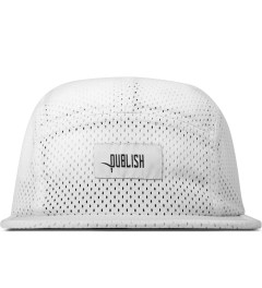 Publish White Jinan Jersey Mesh 5-Panel Camper Cap Picutre