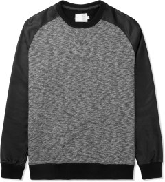 Shades of Grey by Micah Cohen Black/Coated Black Raglan Sleeve Sweater Picture