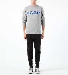Stussy Heather Grey MLB Crewneck Sweater Model Picture