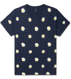 Mark McNairy Navy Daisy Print T-Shirt Picture
