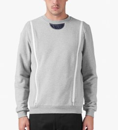 Opening Ceremony Light Grey Zipper Gusset Sweater Model Picture