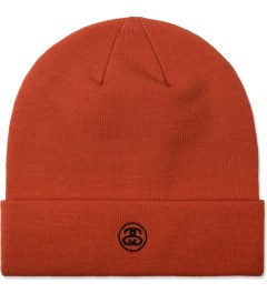 Stussy Red Stock Cuff Beanie Model Picutre