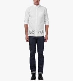Libertine-Libertine White/Black Grill Hunter Thrasher Shirt Model Picture