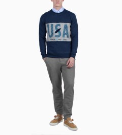 BWGH Navy USA SW Sweater Model Picutre