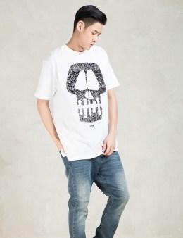 Stussy White Static Skull T-Shirt Picture